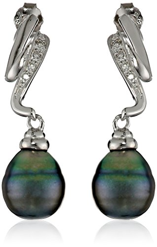 Sterling-Silver-8-85mm-Tahitian-Cultured-Pearl-and-Diamond-Lightning-Drop-Earrings