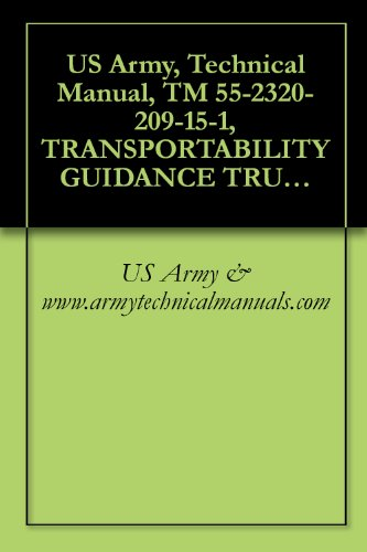 US Army, Technical Manual, TM 55-2320-209-15-1, TRANSPORTABILITY GUIDANCE TRUCKS, 2 1/2-TON, 6X6 (NSN 2320) TRUCK, CARGO: M35 WWN, (00-835-8464), M35 WOWN, ... WOWN (00-077-1618) TRUCK, DUMP: M59 - 835 Us