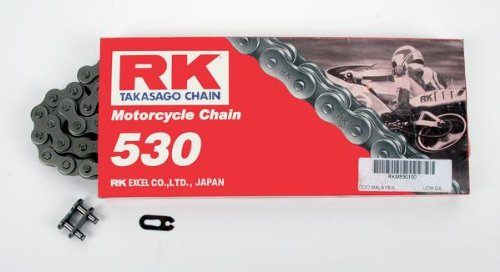 100 Chain Links (RK Racing Chain M530-100 '100-Links' Standard Motorcycle Chain)