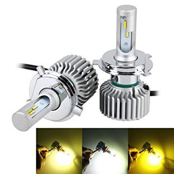 Uniqus 2 PCS H4 26W 2250LM Car Headlight LED Auto Light Built-in CANBUS Function (White Light, Yellow Light, Warm White Light), DC 9-16V