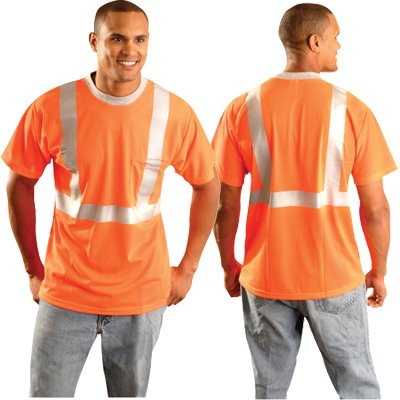 Occunomix LUX-SSTPC2-OS Premium Standard Mesh Safety Shirt, Small, - Outlet Premium County Orange