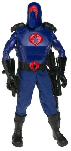 2001 Hasbro 12 inch GI Joe Cobra Commander Action Figure