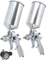 3 Piece Dual Set Up HVLP Spray Gun Kit