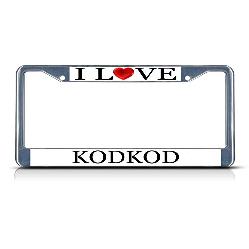 I Love Heart Kodkod Chrome Metal