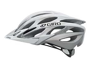 Giro Athlon Bike Helmet, Matte White/Silver Flames, Small