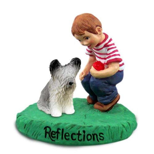 (Conversation Concepts Skye Terrier Reflections w/Boy Figurine)