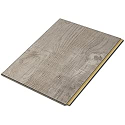 "Cali Bamboo - Cali Vinyl Plus Cork-Backed Vinyl Floor, Extra Wide, Gray Ash Wood Grain - Sample Size 6"" L x 7 1/8"" W x 7mm H"