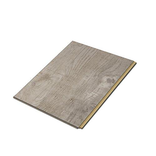 Cali Bamboo - Cali Vinyl Plus Cork-Backed Vinyl Floor, Extra Wide, Gray Ash Wood Grain - Sample Size 6