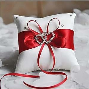 Genven - Almohada de Doble corazón con Diamantes de ...