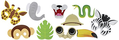 10-Piece Photo Booth Prop Kit, Jungle Party (Jungle Themed Party)