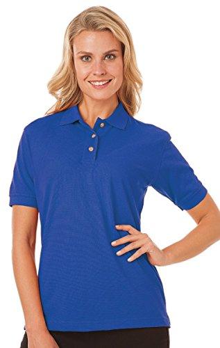 - Blue Generation BG6204 Woman Short Sleeve Superblend Polos-Polo Shirts (L, Royal)