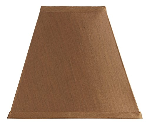 - Upgradelights Copper Silk Square Mission Style Nickel Clip On Chandelier Lampshade (Copper)
