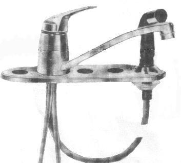 American Standard Fiesta Triple Bowl Faucet