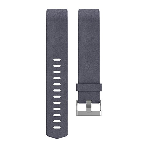 Fitbit Charge 2 Accessory Band, Leather, Indigo, Small