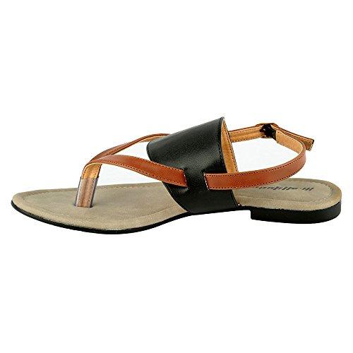 Hi-Attitude Womens Black Synthetic Sandals (450079297005) - 8 UK
