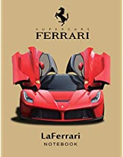 Supercars Ferrari LaFerrari Notebook: for boys & Men, Ferrari Journal / Diary / Notebook, Lined Composition Notebook, Ruled,(8.5 x 11 inches) Large