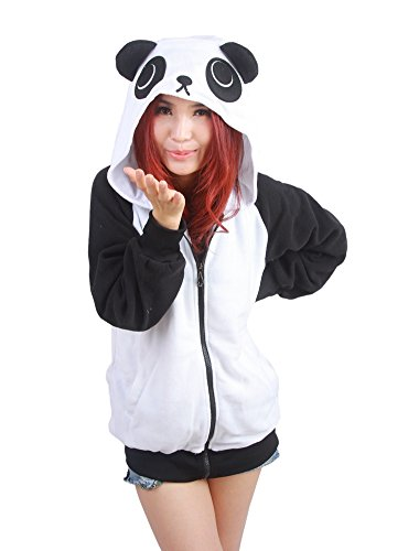 Panda Hoodie (OLadydress Cute Animal Hoodie Jackets Unisex Adult Sweatshirts with Side Pockets PANDA-WT X-Large)