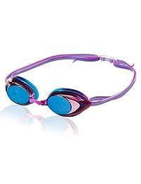 Speedo 7750129-001 Goggles Vanquisher 2.0 Mirrored para Dama, Color Negro