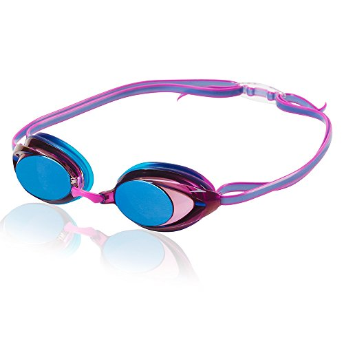Speedo Women's Vanquisher 2.0 Mirrored Swim Goggles, Panoramic, Anti-Glare, Anti-Fog with UV Protection, Purple Dream, 1SZ