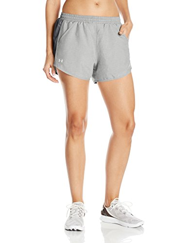 Under Armour Women's Fly-by Shorts,True Gray Heather/Reflective, (Detail Shorts Bottoms)