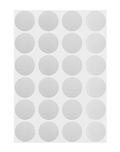 ChromaLabel 3/4 inch Color-Code Dot Labels on Sheets | 1,008/Pack (Metallic Silver)