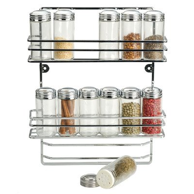 RSVP International 12-bottle Endurance Wall Mount Spice Rack. Endurance Spice
