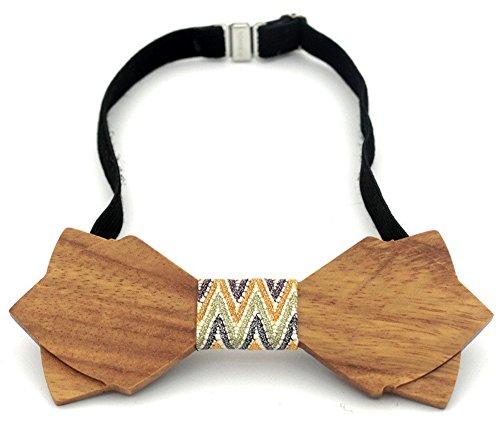 Soultopxin Unisex Casual Wooden Bow Tie Wedding Wood Designer Mariage Necktie