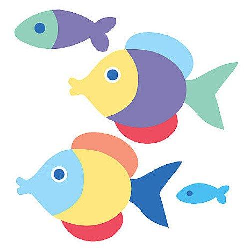 Wallies 12524 Olive Kids Somethin' Fishy Wallpaper Cutout
