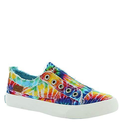 Blowfish Malibu Women's Play Sneaker, Rainbow Tie-dye Canvas, 10