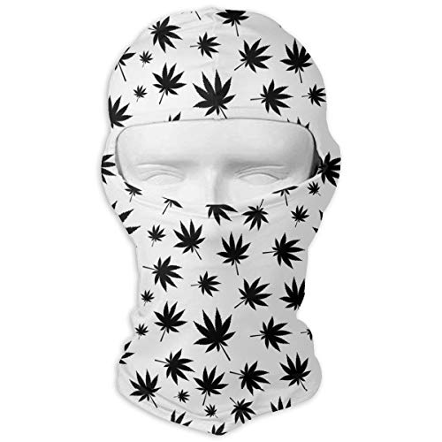 UV Protection Face Mask for Cycling Outdoor Sports Full Face Masks Cannabis Leaves Black Balaclava Hood Skullies -