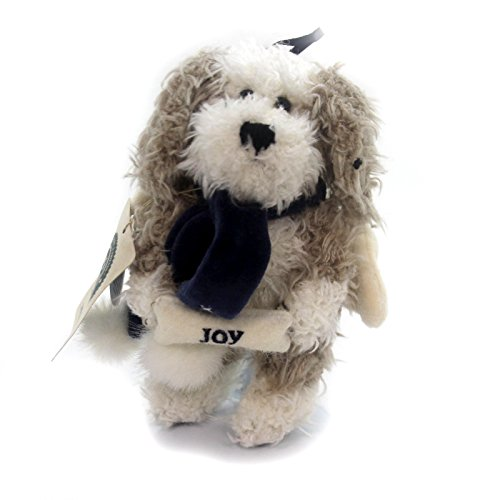 Biscuit Ornament Dog (Boyds Bears Biscuit B Beggar Puppy Dog Plush w Velvet Scarf & Wings with Tags!)