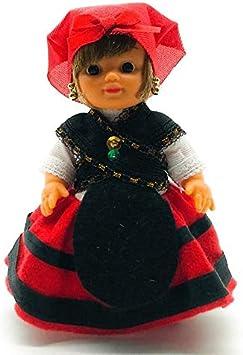 Amazon.es: Folk Artesanía Muñeca Regional colección de 15 cm con Vestido típico Gallega Galicia España.: Juguetes y juegos