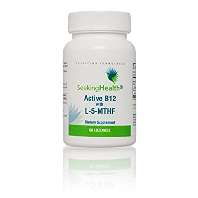 Seeking Health | Active B12 Lozenge with L-5 MTHF | Vitamin B12 Supplement | Methylfolate | 60 Lozenges