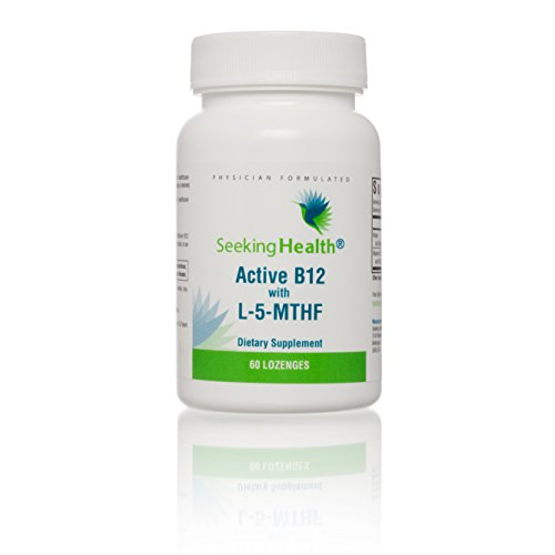 Seeking Health | Active B12 Lozenge with L-5 MTHF | Vitamin B12 Supplement | Methylfolate | 60 Lozenges