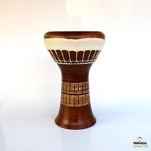 Professional Clay Ceramic Solo Darbuka Drum By Emin Percussion Doumbek EP-104-A by Sala Muzik