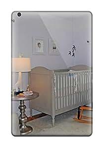 ACpfivX5920xOJNh Tpu Phone Case With Fashionable Look For Ipad Mini/mini 2 - Soft Lavender Nursery With Grey Crib