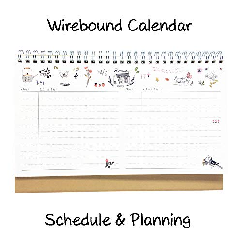 2018 2019 Desk Calendar Flip Monthly Usa Calendar Planner Natural