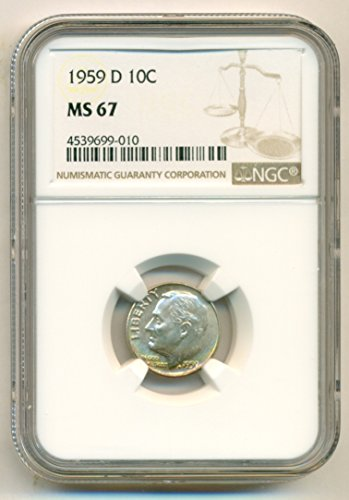 1959 D Roosevelt Dime MS67 NGC