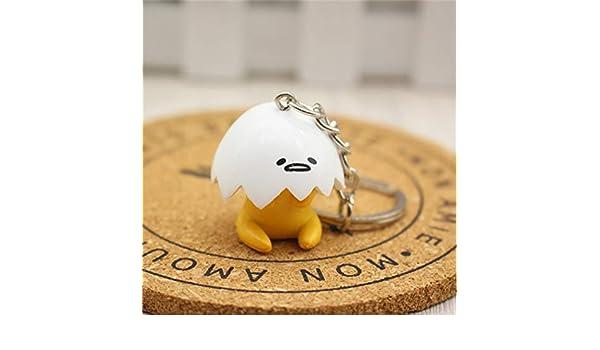 Amazon.com : Key Chains - Funny Lazy Egg Yolk King Doll Key ...