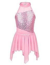 Big Girls Sequins Ballet Latin Dance Dress