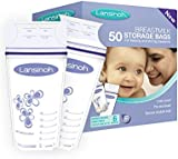 Lansinoh Breast Milk Storage Bags Breastmilk Pouches (50 Piece Pack)