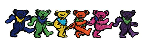 Application Grateful Dead Dancing Bears 3x8 Patch Novelty