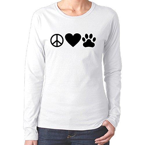 funniest-peace-love-pet-womans-cotton-shirt2016-newest