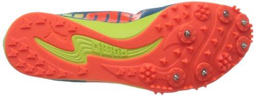 Puma Hombres Evospeed Harambee Track Shoe Metallic Blue / Fluorescent Peach / Fluorescent Yellow