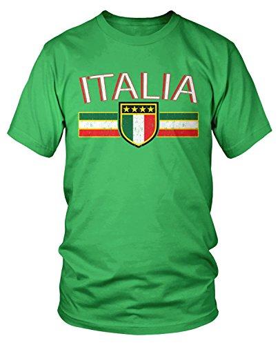 - Amdesco Men's Italia Flag and Shield, Italy Italian Pride T-Shirt, Kelly Green XL
