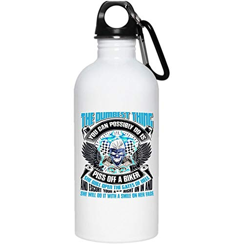 Christmas Mug, I Run I'm Slower Than A Turtles Stampeding Through Peanut Butter 20 oz Stainless Steel Bottle,But I Run Outdoor Sports Water Bottle (Stainless Steel Water Bottle - White)