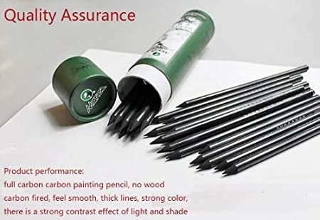 Artist Charcoal Sticks 24 PCS Professional Manga Sketch Drawing Charcoal Pencil Black Pencil drawing sketch pencil without wood Whole Lead Core 4B