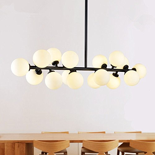Modern Round Chandelier (Modern Modo 16 Round Glass DNA LED Chandelier Pendant Lamp Ceiling lamp Fixture)