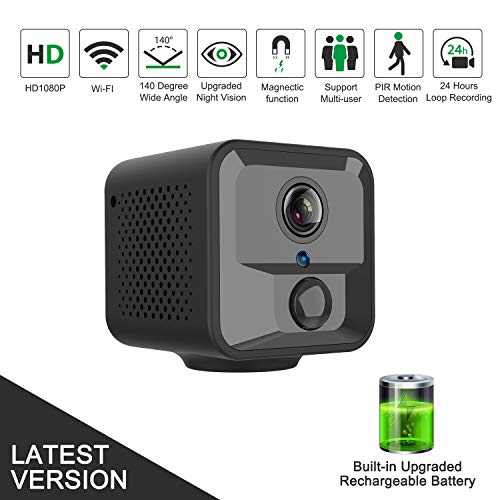 Spy Camera Wireless Hidden, Relohas Full HD 1080P Mini Spy Hidden Camera WiFi, Upgraded Night Vision Motion Activated Spy Cam Nanny Cam, Security Camera for Home and Outdoor (with Phone APP)