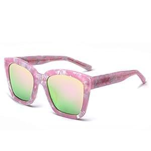 wkaijc los hombres y las mujeres polarizadas Retro Mode individualité Confort Loisirs gafas de sol gafas de sol, e
